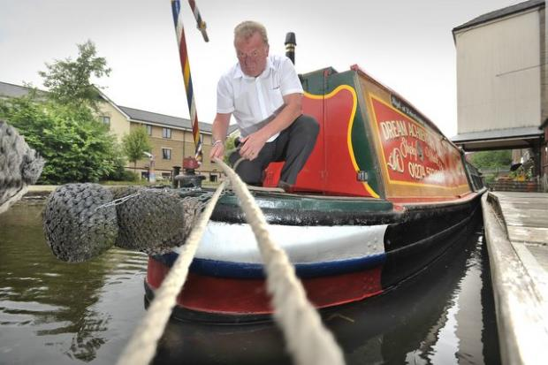 Trevor Roberts, of the Dream Achievers canalboat business which is based at Shipley