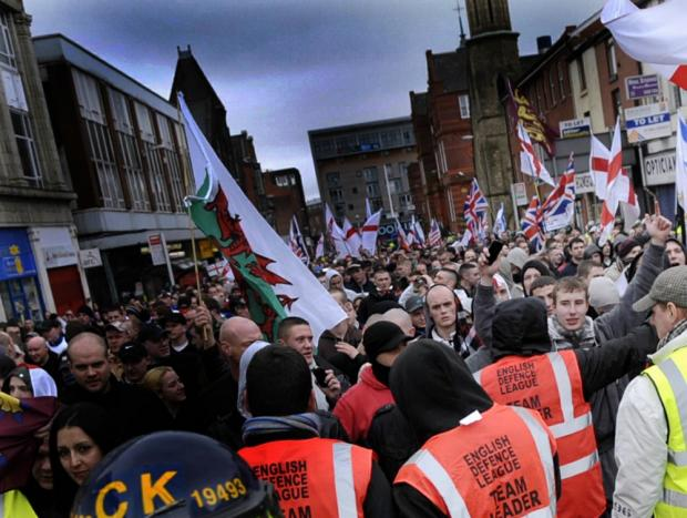 The English Defence League demonstration in Bolton recently