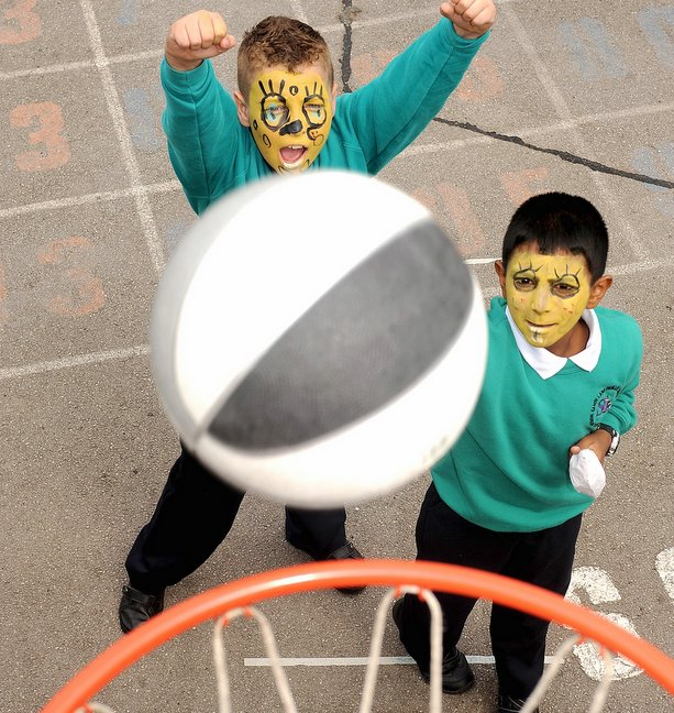 Pupils have a ball at fun day