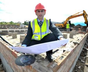 Bradford Council's affordable housing officer Mohammed Munir on site in West Bowling