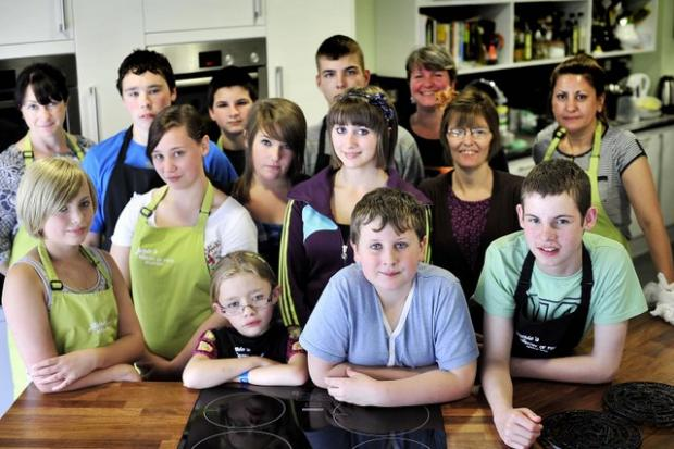 Youngsters from The Cube Community Centre have been at the Ministry of Food