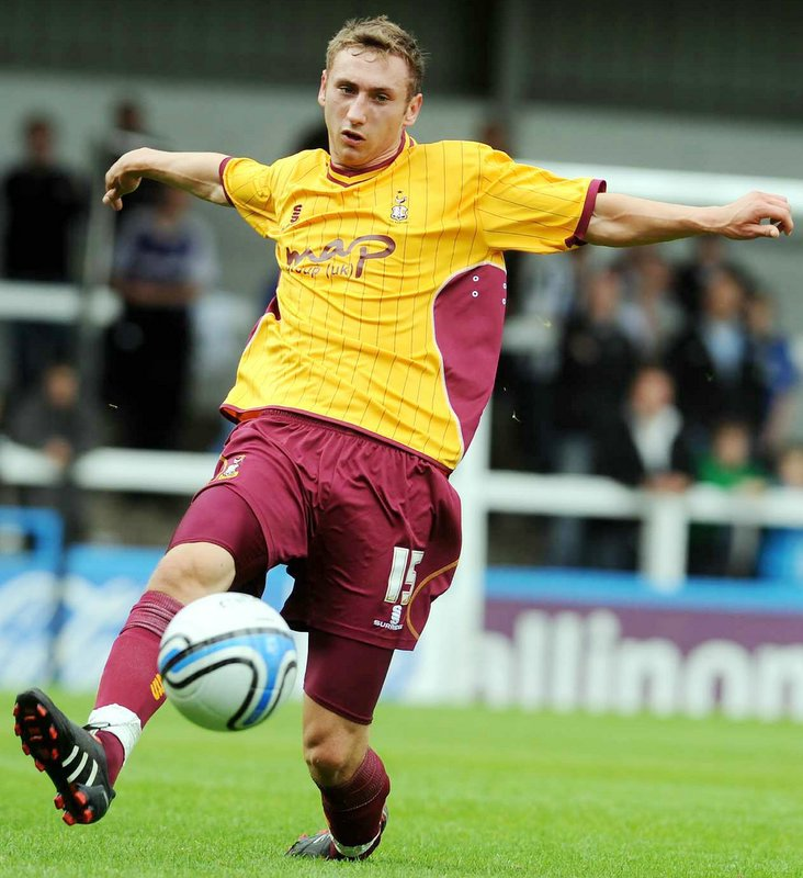 Louis Moult says it is taking some getting used to playing in front of so many fans at Valley Parade