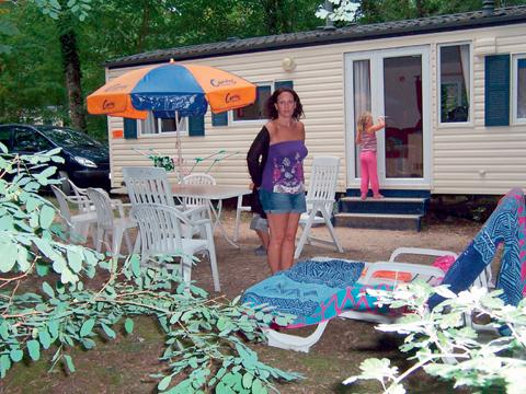 Outside the campsite's luxury mobile homes