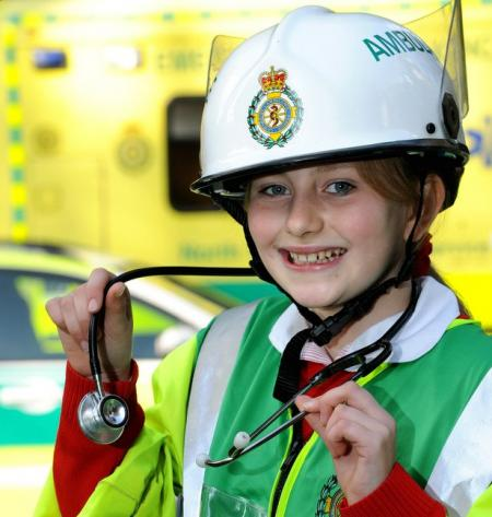Emergency services were called in to help educate Ilkley youngsters on life-saving careers.