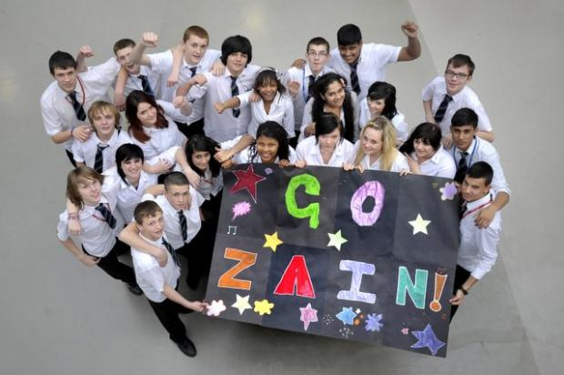 Tong pupils hold a Zayn (also known as Zain) day to celebrate his success