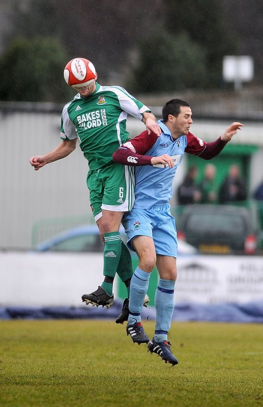"Brett Renshaw loses his head during Avenue's 4-1 home loss to Colwyn Bay last weekend, a defeat that leaves them ""a mountain to climb"" to earn a play-off berth"