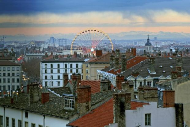 Over the rooftops of Lyon