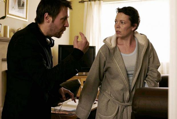 Director Paddy Considine with one of the film's stars Olivia Colman