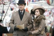 Colin Firth, as King George VI, and Helena Bonham Carter, as Queen Elizabeth, in the hugely-successful film The King's Speech