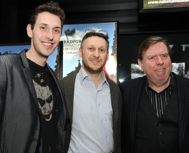 Actor Blake Harrison, director Yoav Factor and actor Timothy Spall at last night's premiere of Reuniting the Rubins
