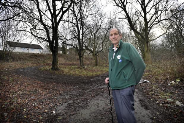Peter Walker, of Wyke Local History Group, at the Shirley Manor site in Wyke