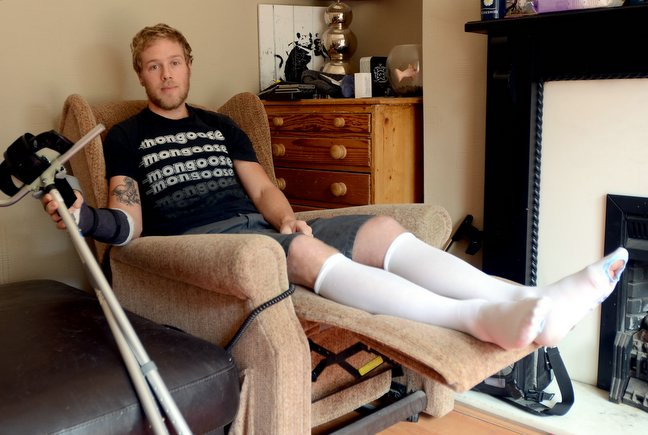 Chris Akrigg recovering at home