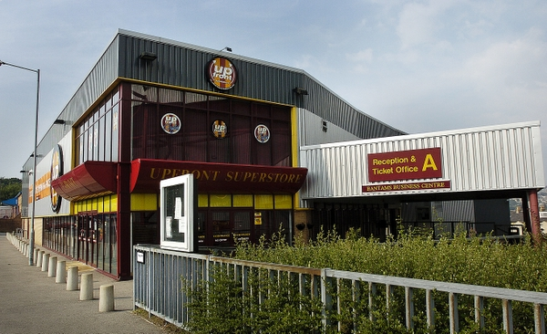 The office block, which stands directly outside the stadium at  Valley Parade and also houses the club shop