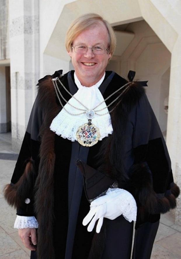 Sir David Wootton as Lord Mayor of the City of London