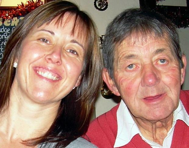 Colette Scully with dad Stuart Dennison, who died in January