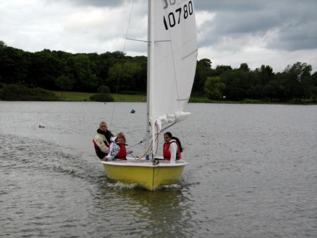 Sailing on Yeadon Tarn