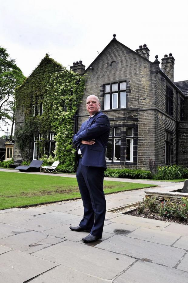 Bradford Telegraph and Argus: Richard Chadwick in front of Bracken Hall