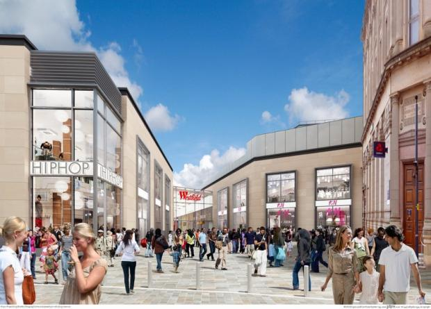 The latest artist's impression of the new Broadway shopping centre