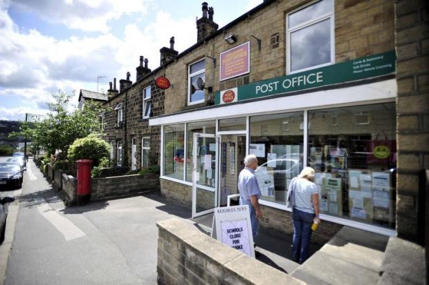 The post office in Riddlesden where the would-be robber struck mid-afternoon