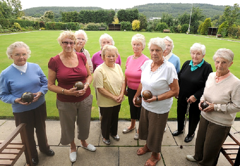 Some of the members of Slenningford Bowling Club in Crossflatts angry at housing plans