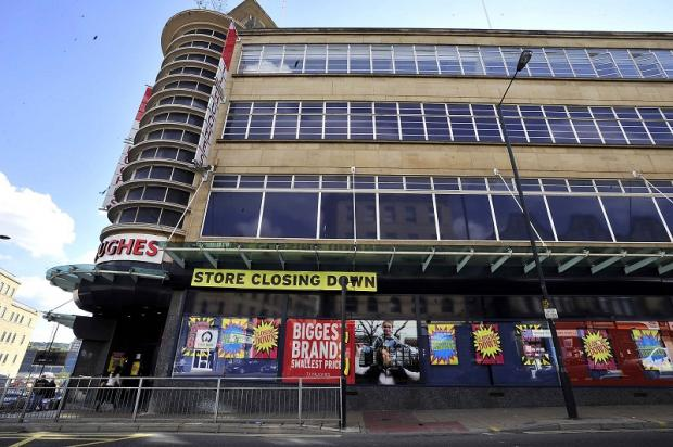 The TJ HUghes store in Bradford that is to close down with the loss of 53 jobs