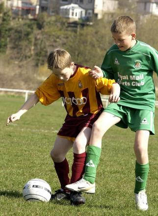 George Green, left, pictured four years ago playing for City's under-11s
