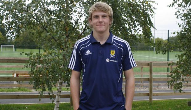 St Mary's Catholic High School pupil Jordan Hendrie, who has been selected for Scotland's under-16 football team