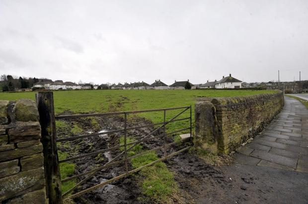 The proposed housing site off Crack Lane in Wilsden