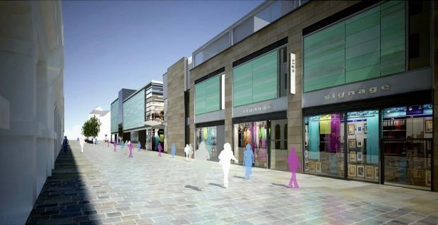 An artist's impression of the planned Westfield development