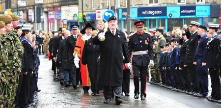 The Remembrance Service at Keighley.