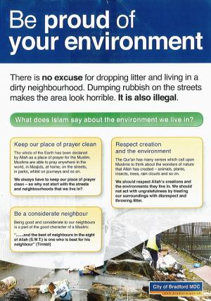 The front of the litter leaflet that has been scrapped