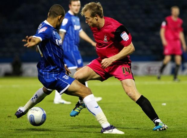 Gillingham are first up in the league for City. Ricky Ravenhill is pictured during the 0-0 draw at Priestfield in November last season