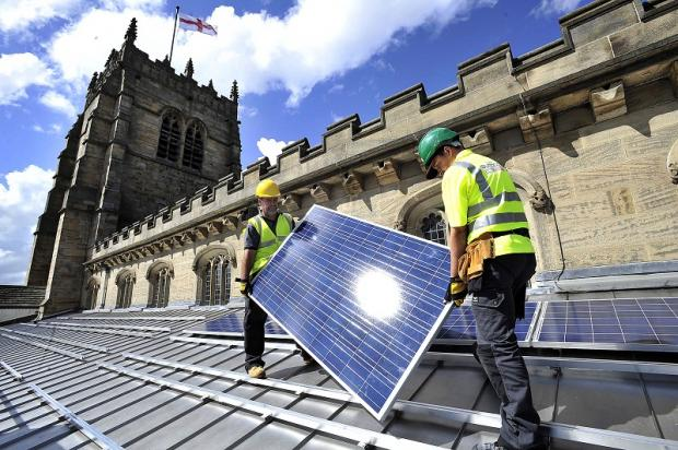 Bradford Cathedral's solar panels
