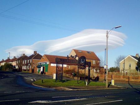Readers' pictures of the lenticular cloud formations across Bradford on Thursday