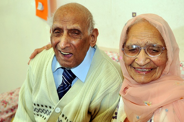 Karam and Kartari Chand who have just celebrated their 86th year together