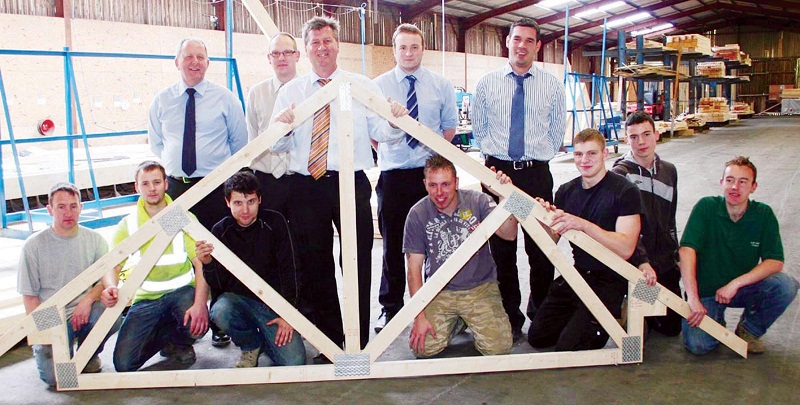 The C R Taylor roof truss team