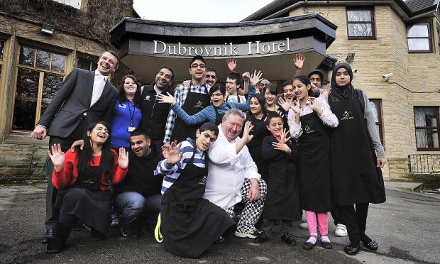 Disabled children at the Dubrovnik Hotel, Manningham, where they went head to head