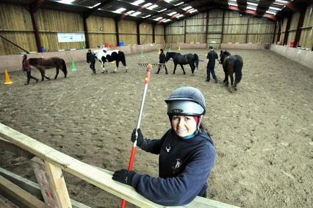 Abi Wheeler, manager at the Throstle Nest Riding school Fagley Lane, Bradford