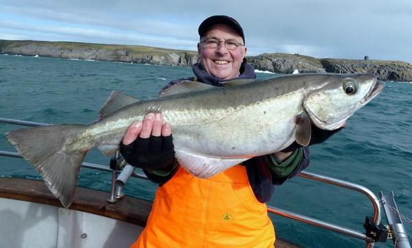 Roger Smith with his 14lb pollock