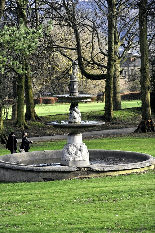 One of the features at Cliffe Castle Park in Keighley