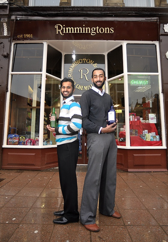 Sajid Hussain (left) and Qaisar Sheikh outside the store