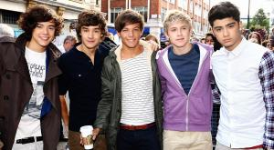 Zayn Malik (right) with his One Direction bandmates (from left) Harry Styles, Liam Payne, Louis Tomlinson and Niall Horan