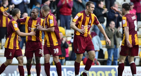 It's a  mutual appreciation society after James Hanson scores in the 2-1 win over Oxford at Valley Parade but since that day City have lost three league games on the bounce away from home, with just an own goal to show for their efforts