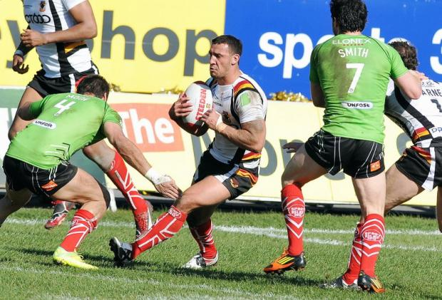 Paul Sykes in action against Salford last weekend