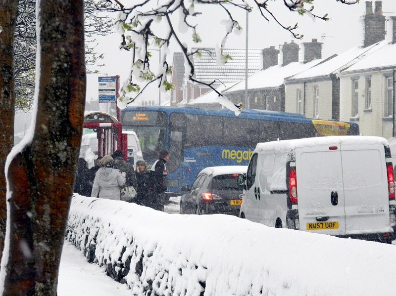 Bradford district brought to halt by Easter week snow - live updates
