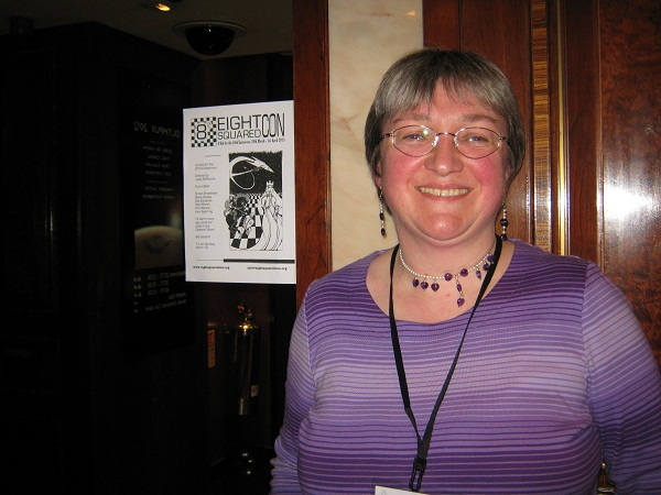 Juliet McKenna, leader of the Bradford Eastercon committee, who has been successful in bringing the festival to Bradford