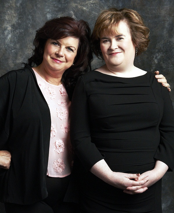 Elaine C Smith, who played Susan Boyle, with the singer