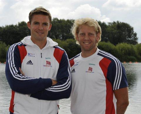 Andy Hodge, right, pictured with Pete Reed, says the Great Britain men's four would be in contention for an Olympic gold medal even if they didn't train between now and the summer