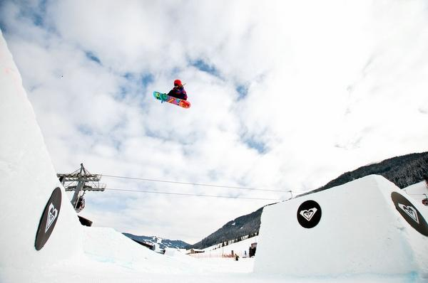 Katie Ormerod in action at the Roxy Sno Pro in Austria