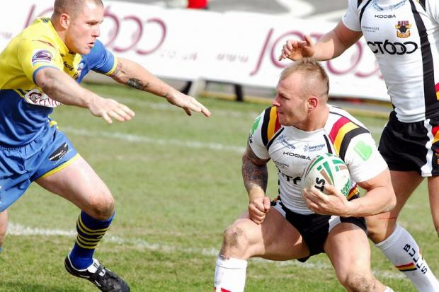 Hat-trick man Shaun Ainscough in action against Doncaster